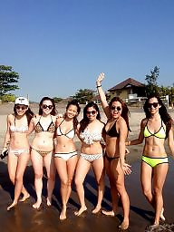 Asian, Hot girl, Bikinis, Beach, Camel