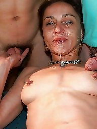 Mature facial, Double, Facials, Mature sex, Mature facials, Mature group