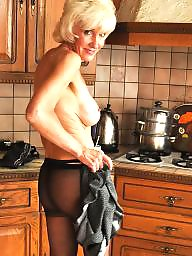 Mature pantyhose, Blonde mature, Blond, Pantyhose mature