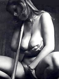 Vintage boobs, Big black, White