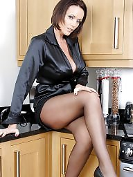 Kitchen, Lady, Ladies, Upskirt stockings, ‌kitchen