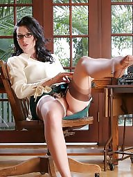Office, Strip, Upskirts, Nylons, Officer