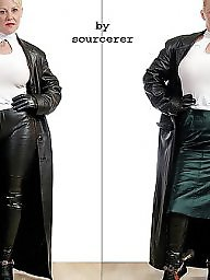 Latex, Pvc, Boots, Leather, Mature, Mature latex