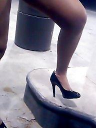 High heels, Candid, Milf upskirt, Milf amateur, Upskirt milf, High