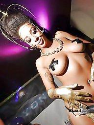 Ebony tits, Cum tits, Big black