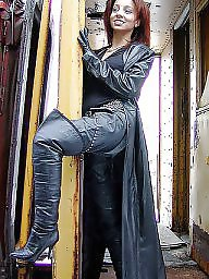 Pvc, Leather, Boots, Latex, Mature boots, Mature leather