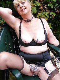 Outdoors, Outdoor, Pvc, Granny stockings, Mature outdoor, Stockings outdoor