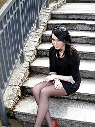 Street, Upskirts, Amateur nylon, Amateur stocking