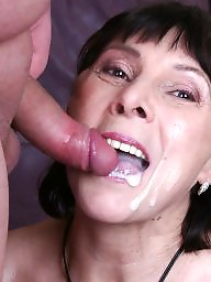 Granny facial, Granny, Granny blowjob, Facial, Mature facial, Mature blowjob