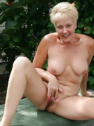 Mature, Garden, Matures, Sexy milf, Naked mature