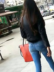 Spy, Voyeur, Jeans, Romanian, Teen ass amateur, Sexy ass