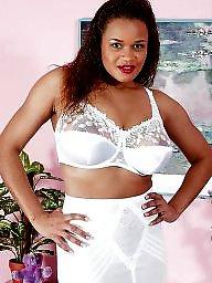 Lingerie, Black, Ebony ass, Ebony stockings