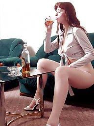 Upskirt, Redhead, Show