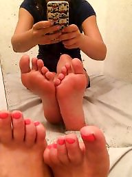 Teen feet, Mirror, Amateur teen, Amateur feet, Friend