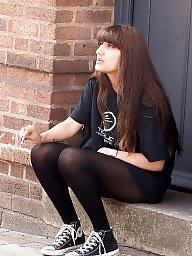 Smoking, Teen stockings, Smoke