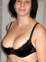 Milf stockings, Brunette milf