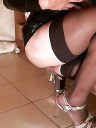 Femdom, Nylon, Black, Heels, Amateur, Nylons
