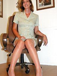 Nylon, Nylon mature, Mature nylon, Stocking, Mature stocking, Nylons