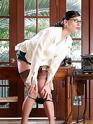 Office, Nylons, Strip, Stripping, Nylon stockings, Ladies