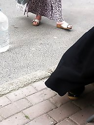 Turban, Turkish, Foot, Turkish hijab, Candid, Turkish feet
