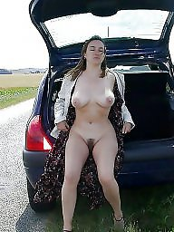 Outdoor, Hairy pussy, Open, Nude, Outdoors, Open pussy