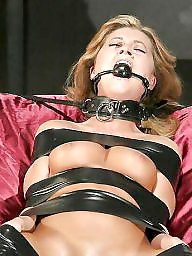 Bound, Tied, Flashing, Women, Tied tits, Tits flash