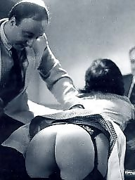 Retro, Spanking, Butt, Spank, Suck, Old young fuck
