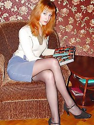 Young, Lady, Upskirt stockings
