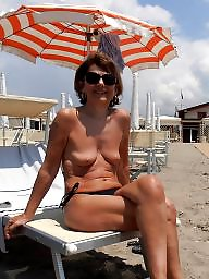 Mature beach, Beach mature, Lady, Mature lady