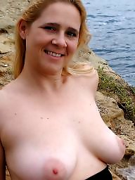 Outside, Flash, Mature boobs, Mature big tits, Big tits mature, Milf tits