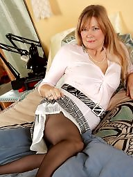 Old, Milf stockings, Old milf