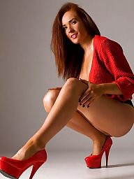 Candid, High heels, Nylon teen