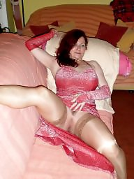 Mom, Stocking, Horny, Stockings mature, Stocking mature, Amateur mom