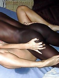 German, Blonde interracial, Black girls