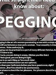 Pegging, Strapon, Milf anal