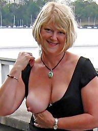 Sexy milf, Wives, Flashing tits, Flashing boobs