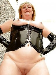 Latex, Pvc, Leather, Mature leather, Milf mom