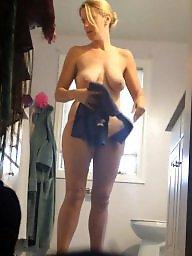 Big tits, Big natural tits, Unaware, Natural tits, Hairy pussy, Wifes tits