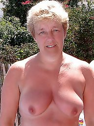 Through, Mature boobs, Big mature