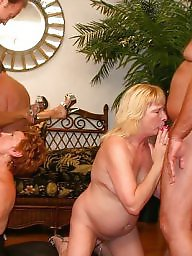 Orgy, Mature sex, Mature group, Group sex