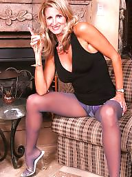 Pantyhose, Mature pantyhose, Blonde mature, Pantyhose mature