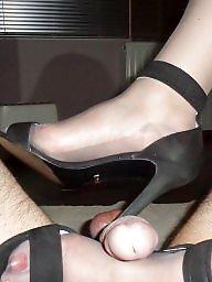 Milf, Vintage, High heels, Grey, Tribute, Stockings heels