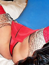 Lingerie, Stockings, Fishnet, Fetish, Home, Wife stocking