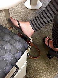 Candid, Hidden, Stocking feet