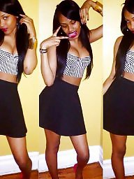 Skirt, Ebony teen, Shorts, Black teen, Teen skirt, Short