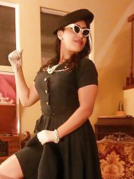 Vintage, Dressed, Dress, Gloves, Ups, Vintage amateurs