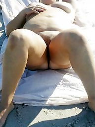 Beach, Clit, Bbw big ass, Big clit, Sexy bbw, Wife ass