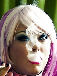 Smoking, Pvc, Mistress, Smoke