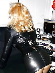 Leather, Skirt, Lady, Leather skirt