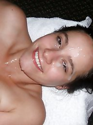 Facial, Amateur facials, Cumming, Blowjob cum